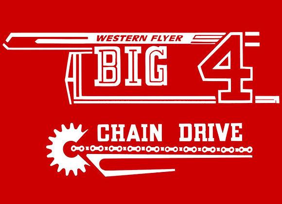 BIG 4 TRACTOR WESTERN FLYER DECAL SET