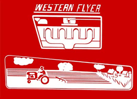 WESTERN FLYER PEDAL CAR TRACTOR DECALS