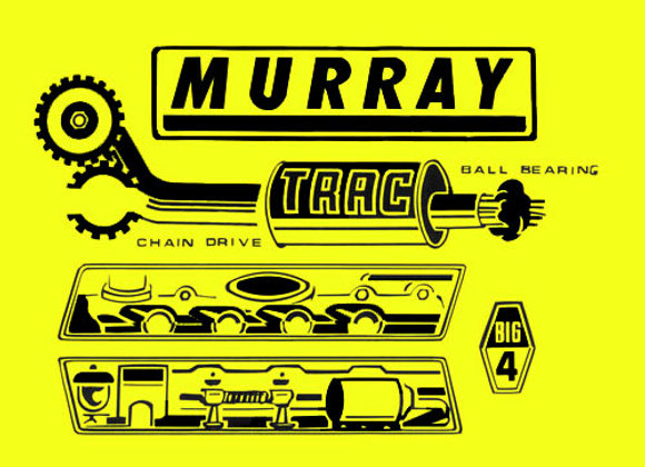 MURRAY BIG 4 PEDAL TRACTOR DECALS