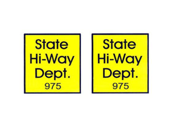 Tonka State Highway Dept Decals