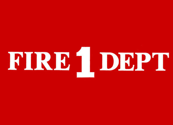 FIRE 1 DEPT DECALS