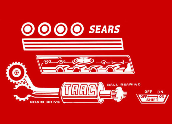 SEARS PEDAL CAR DECAL SET