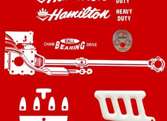 HAMILTON HEAVY DUTY PEDAL TRACTOR DECALS