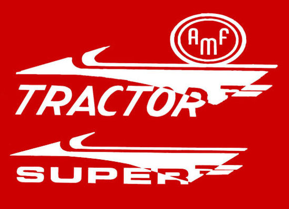 AMF SUPER TRACTOR PEDAL TRACTOR DECALS