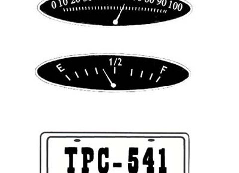 MURRAY V FRONT GAUGES AND LIC. PLATE