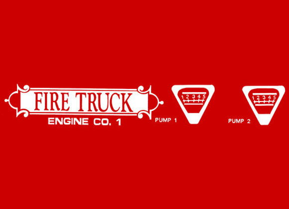 ENGINE CO.1 DECAL SET