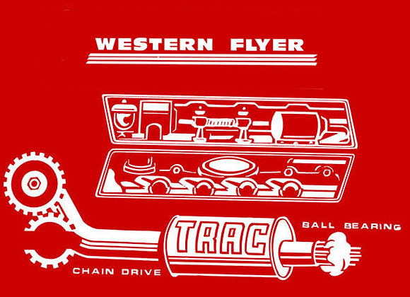 WESTERN FLYER PEDAL TRACTOR DECALS