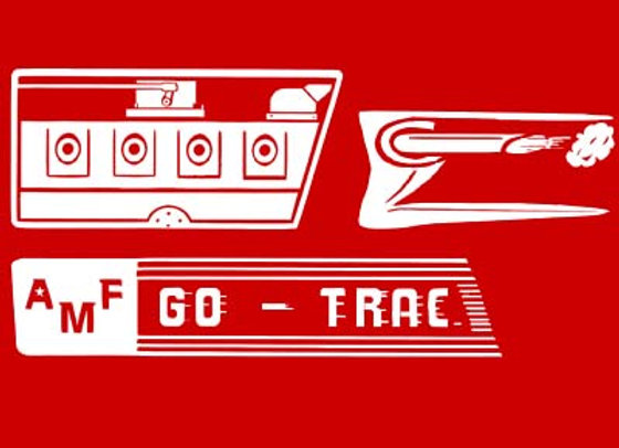 AMF  GO TRAC  DECAL SET