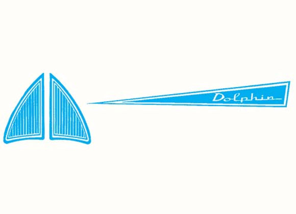 Dolphin Pedal Boat Decals