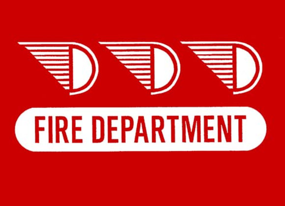 PEDAL CAR DECALS FIRE DEPARTMENT SET