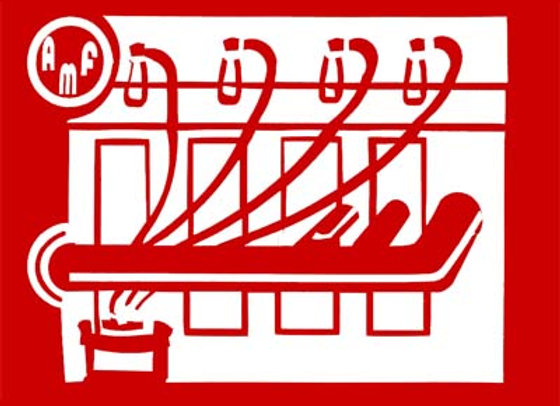 AMF PEDAL TRACTOR MOTOR DECALS