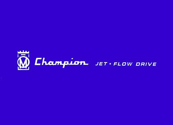 Murray Champion Jet Flow Drive Decals