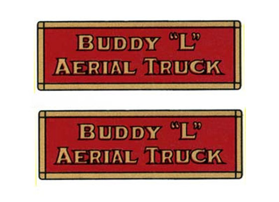 BUDDY L AERIAL TRUCK DECALS