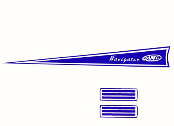 Navigator Pedal Boat Decals