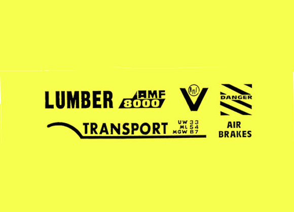 AMF LUMBER TRANSPORT TRUCK DECALS