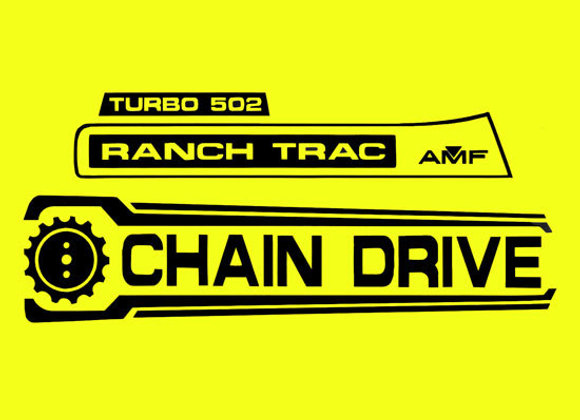 AMF RANCH TRAC TURBO 502 DECAL SET