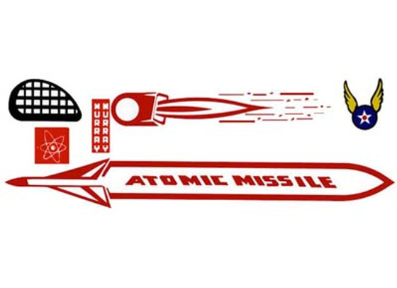 MURRAY ATOMIC MISSILE DECALS