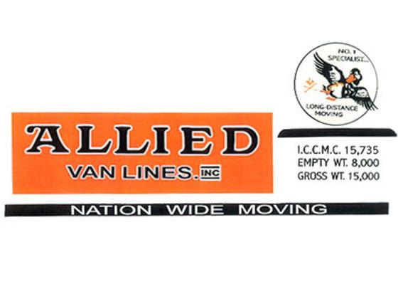 Tonka Allied Van Lines Decals