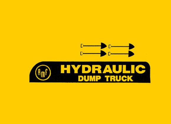 AMF HYDRAULIC DUMP TRUCK DECALS
