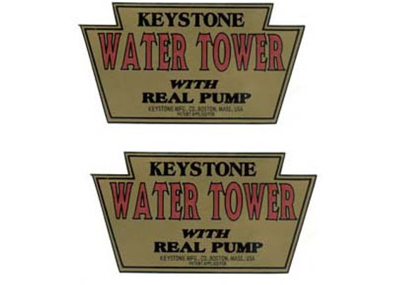 KEYSTONE WATER TOWER DECALS