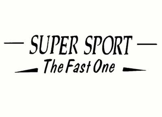 Super Sport Fast one Racer Decals