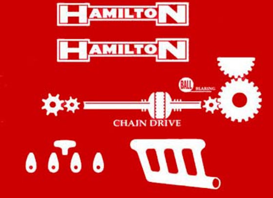 HAMILTON CHAIR DRIVE  PEDAL TRACTOR DECALS