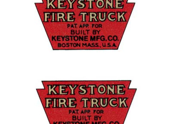 KEYSTONE FIRE TRUCK DECALS