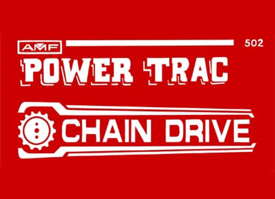 AMF POWER TRAC 502 DECALS