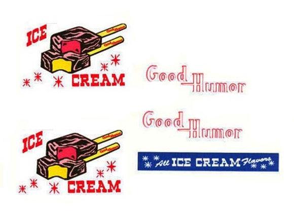 Good Humor Ice Cream Truck Decals