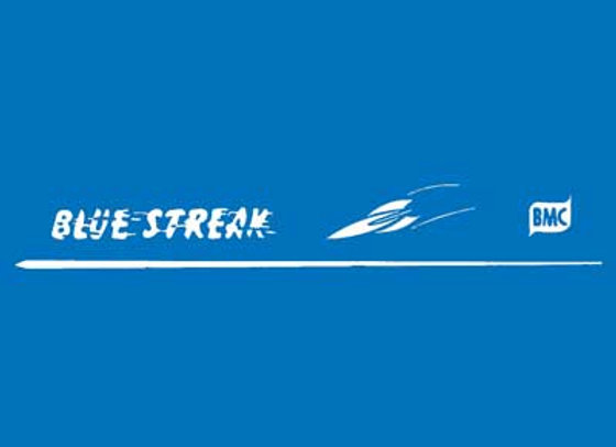 BMC Blue Streak Pedal Car Decals