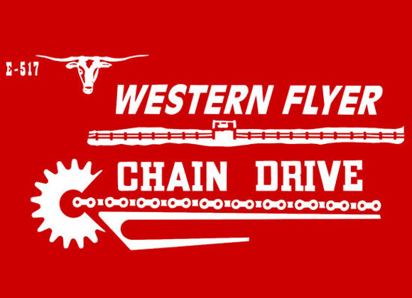 WESTERN FLYER E-517 PEDAL TRACTOR DECALS
