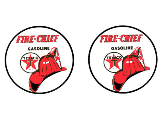Texaco Fire Chief Decals