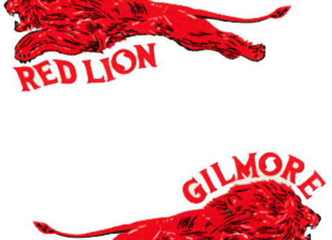 Gilmore  Red LionOil Company Decals