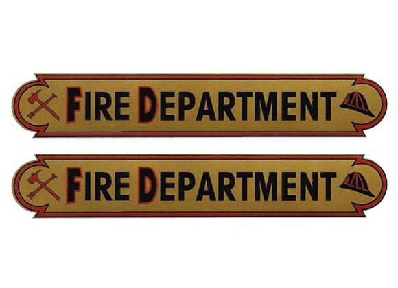 FIRE DEPARTMENT PEDAL CAR DECALS