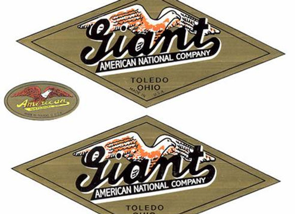 American National GIANT Truck Decals