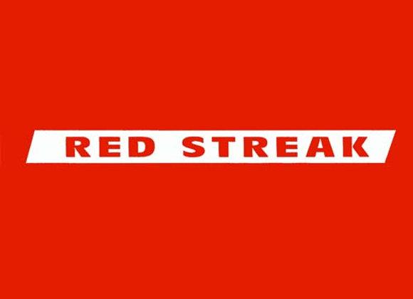 Red Streak Wagon decals