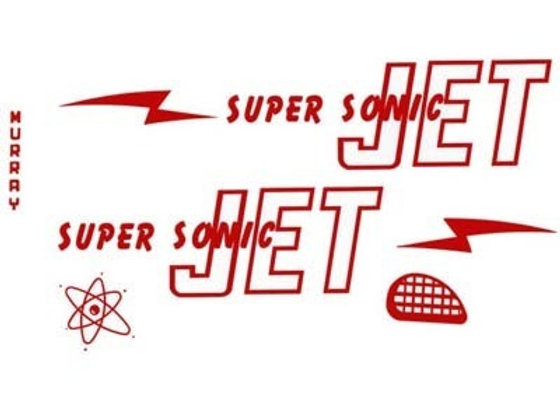 MURRAY SUPER SONIC JET PLANE DECALS