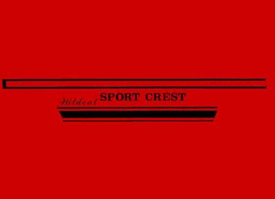 Wild Cat Sport Crest Decals