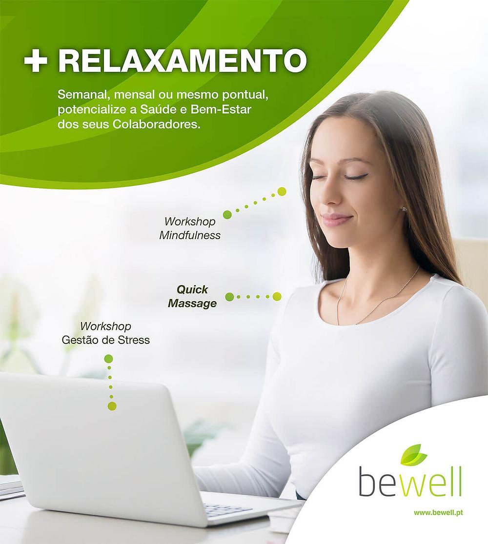 Técnicas de relaxamento Bewell Portugal