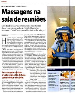 Massagens na sala de reuniões | Bewell Portugal