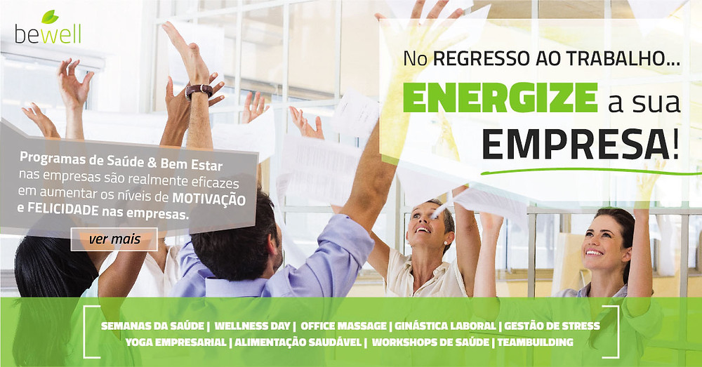 Wellness Empresarial - Bewell Portugal