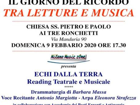 Il giorno del ricordo tra musica e lettura