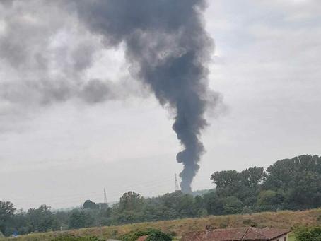 Segnalazione alla PL del fumo proveniente nei pressi di V. Selvanesco