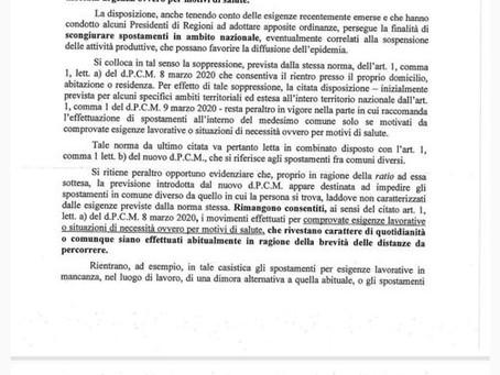 Misure contro Sars-Covid19