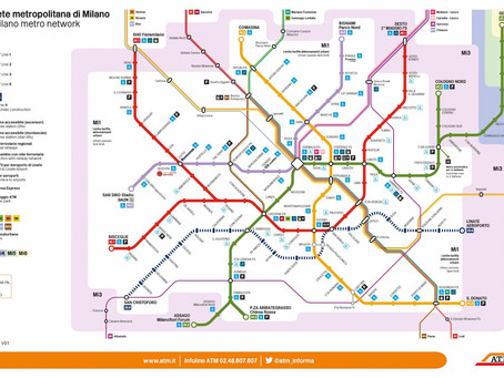 Nuova mappa della metropolitana Atm