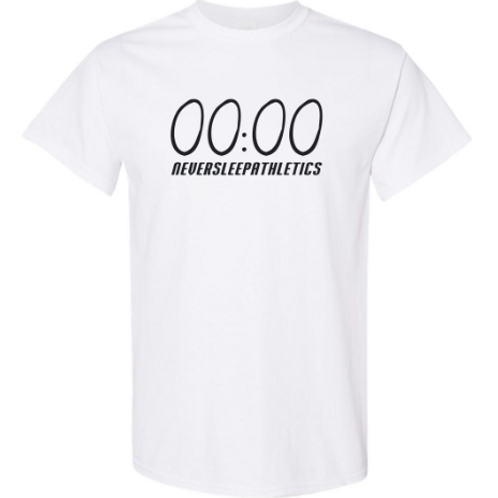 """White """"Unlimited Time"""" T-Shirt."""