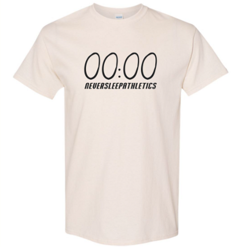 """Beige """"Unlimited Time"""" T-Shirt."""