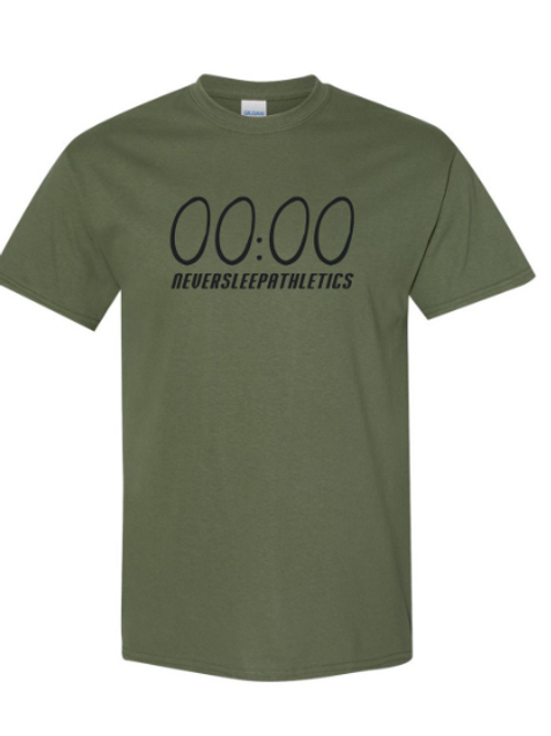 """Military Green """"Unlimited Time"""" T-Shirt"""