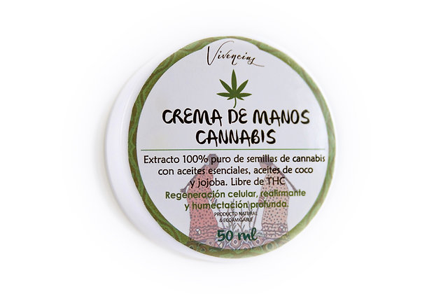 Crema de manos de cannabis