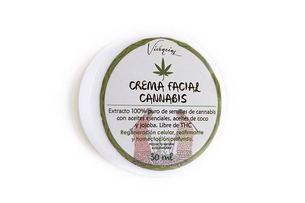 Crema facial de cannabis